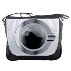 White Washing Machine Messenger Bags by BangZart