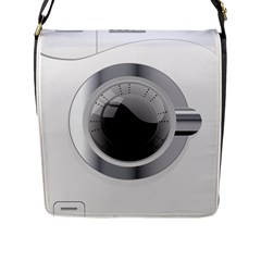White Washing Machine Flap Messenger Bag (l)  by BangZart