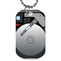 Computer Hard Disk Drive Hdd Dog Tag (two Sides)