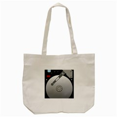Computer Hard Disk Drive Hdd Tote Bag (cream) by BangZart