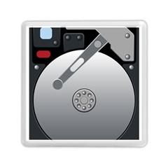 Computer Hard Disk Drive Hdd Memory Card Reader (square)  by BangZart