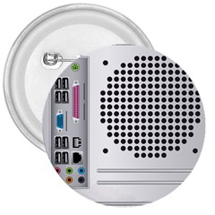 Standard Computer Case Back 3  Buttons