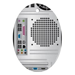 Standard Computer Case Back Ornament (oval)