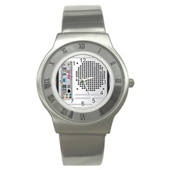 Standard Computer Case Back Stainless Steel Watch by BangZart