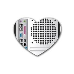 Standard Computer Case Back Heart Coaster (4 Pack)