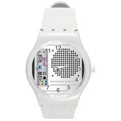 Standard Computer Case Back Round Plastic Sport Watch (m) by BangZart