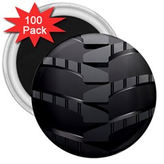 Tire 3  Magnets (100 Pack) by BangZart