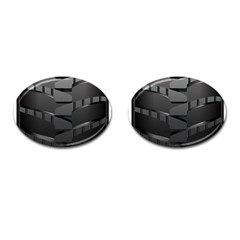 Tire Cufflinks (oval) by BangZart