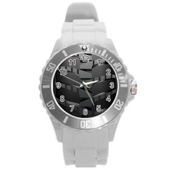 Tire Round Plastic Sport Watch (l) by BangZart