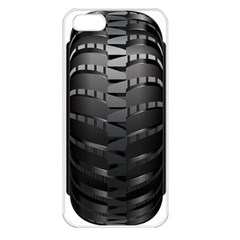 Tire Apple Iphone 5 Seamless Case (white)
