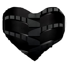 Tire Large 19  Premium Heart Shape Cushions by BangZart