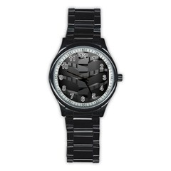 Tire Stainless Steel Round Watch by BangZart