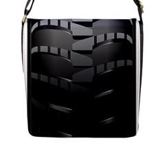Tire Flap Messenger Bag (l)  by BangZart