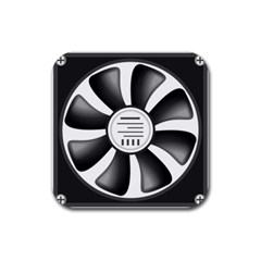 12v Computer Fan Rubber Square Coaster (4 Pack)  by BangZart