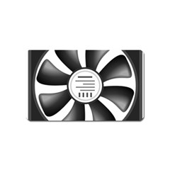 12v Computer Fan Magnet (name Card) by BangZart