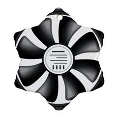 12v Computer Fan Ornament (snowflake)