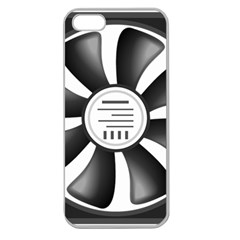 12v Computer Fan Apple Seamless Iphone 5 Case (clear) by BangZart