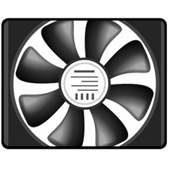 12v Computer Fan Double Sided Fleece Blanket (medium)  by BangZart