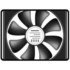 12v Computer Fan Double Sided Fleece Blanket (large)  by BangZart