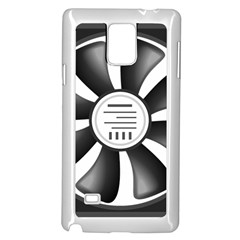 12v Computer Fan Samsung Galaxy Note 4 Case (white)