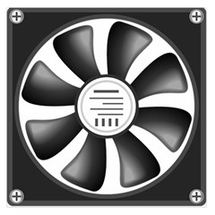 12v Computer Fan Large Satin Scarf (square)