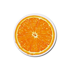 Orange Slice Rubber Coaster (round)  by BangZart