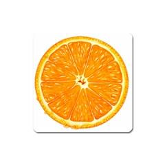 Orange Slice Square Magnet