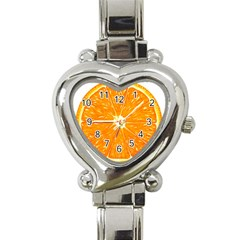 Orange Slice Heart Italian Charm Watch by BangZart
