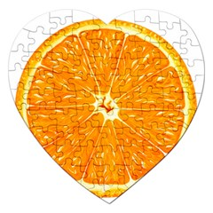 Orange Slice Jigsaw Puzzle (heart) by BangZart
