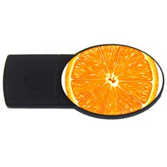 Orange Slice Usb Flash Drive Oval (4 Gb)