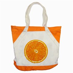 Orange Slice Accent Tote Bag