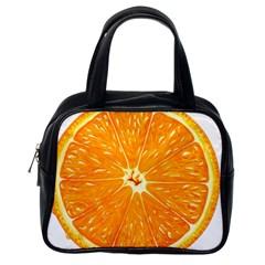Orange Slice Classic Handbags (one Side)