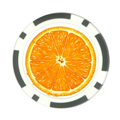 Orange Slice Poker Chip Card Guard (10 Pack) by BangZart