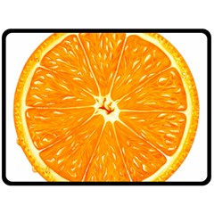 Orange Slice Fleece Blanket (large)  by BangZart