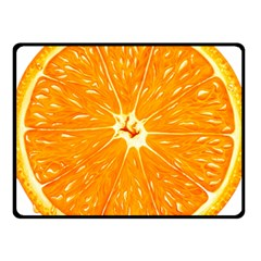 Orange Slice Fleece Blanket (small) by BangZart