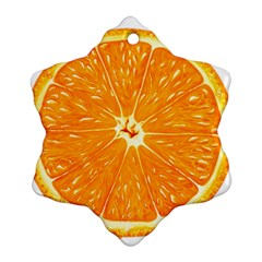 Orange Slice Ornament (snowflake) by BangZart