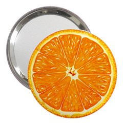 Orange Slice 3  Handbag Mirrors by BangZart