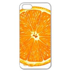 Orange Slice Apple Seamless Iphone 5 Case (clear)