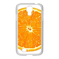 Orange Slice Samsung Galaxy S4 I9500/ I9505 Case (white) by BangZart