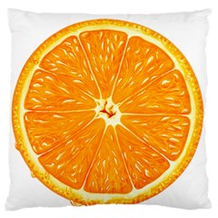 Orange Slice Large Flano Cushion Case (one Side)
