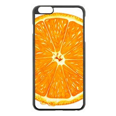 Orange Slice Apple Iphone 6 Plus/6s Plus Black Enamel Case by BangZart
