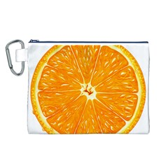 Orange Slice Canvas Cosmetic Bag (l) by BangZart