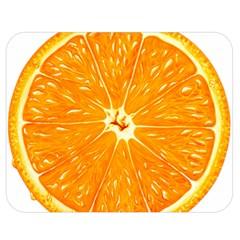 Orange Slice Double Sided Flano Blanket (medium)  by BangZart