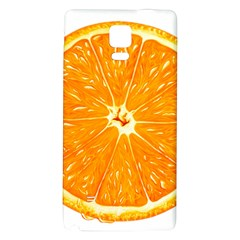 Orange Slice Galaxy Note 4 Back Case by BangZart