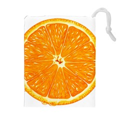 Orange Slice Drawstring Pouches (extra Large) by BangZart