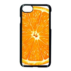 Orange Slice Apple Iphone 7 Seamless Case (black) by BangZart