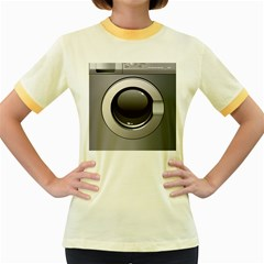 Washing Machine Women s Fitted Ringer T Shirts