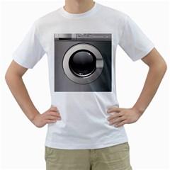 Washing Machine Men s T Shirt (white) (two Sided)