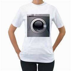 Washing Machine Women s T Shirt (white)