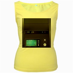 Standard Computer Case Front Women s Yellow Tank Top